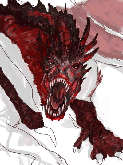 sketch-of-a-dragon