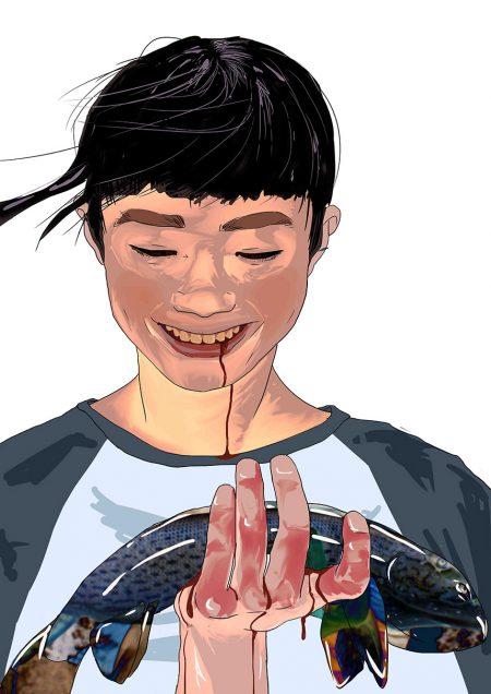 zombie-girl-with-fish_Sofia-Efremenko